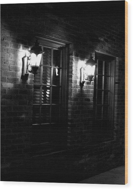 Night Time Wood Print