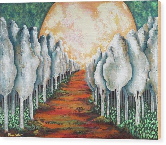 Night Walk II Wood Print by Latasha Becker