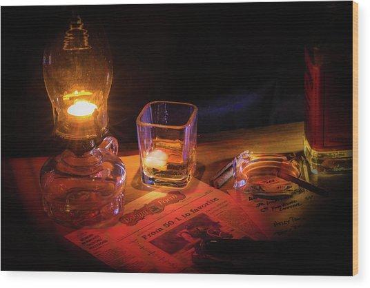 Night Work Wood Print