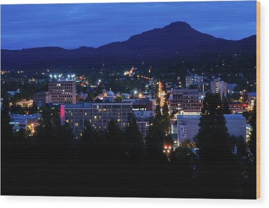 Nightfall Over Eugene Wood Print