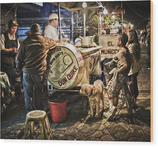 Nightlife In Guatemala Wood Print