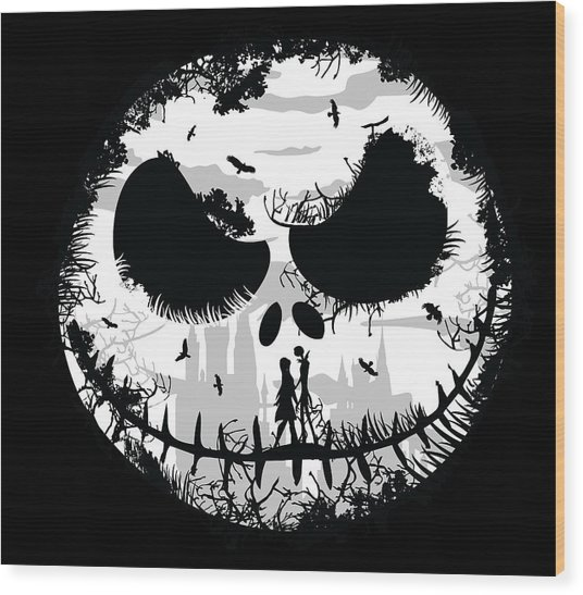 Nightmare Wood Print