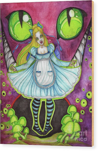 Nightmare Wood Print by Coriander Shea