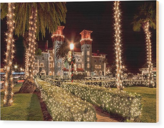 Nights Of Lights, Lightner Museum Wood Print