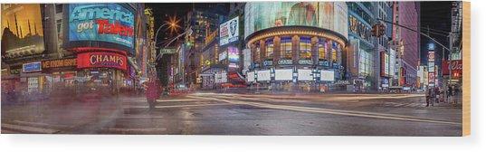 Nights On Broadway Wood Print