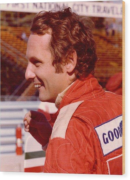 Niki Lauda 1975 Wood Print