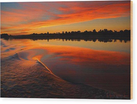 Nile Sunset Wood Print