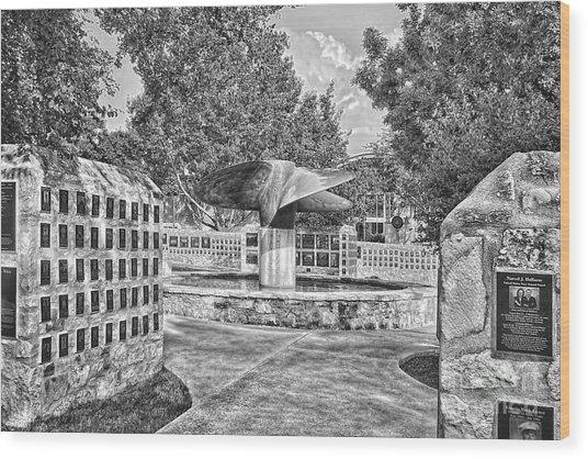 Nimitz Prop Fountain Wood Print