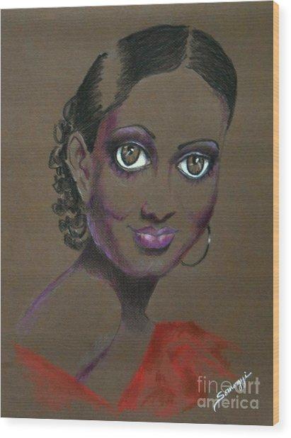 Nina Mae -- African-american Actress Portrait Wood Print