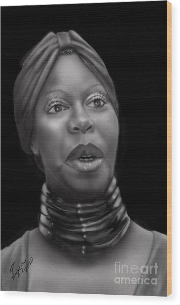 Nina Simone-revolution Wood Print