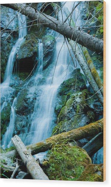 Nine Mile Falls Wood Print