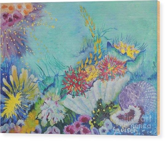 Ningaloo Reef Wood Print