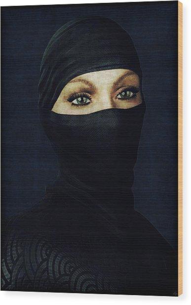 Ninja Portrait Wood Print