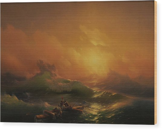 Ninth Wave Wood Print by Ivan Aivazovsky