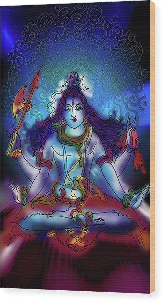 Nirvikalp Samadhi Kapali Shiva Wood Print