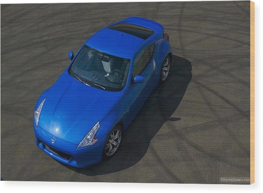 Nissan 370z Coupe 2012 Wood Print