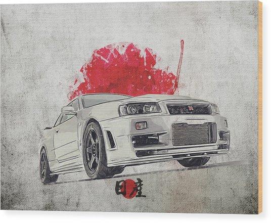Nissan Gt-r R34 - Skyline Wood Print