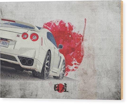 Nissan Gt-r R35 - Skyline - Cba-r35 - Race Car Wood Print