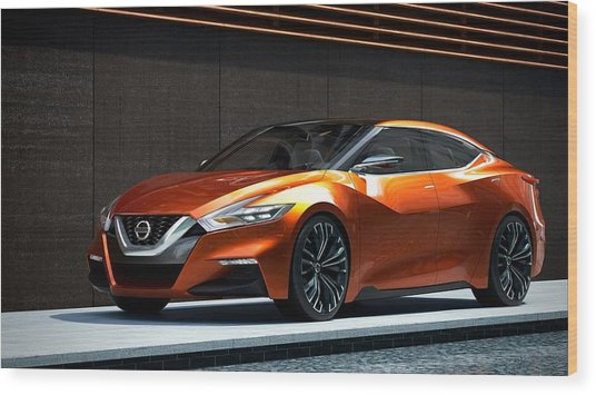 Nissan Sport Sedan Concept 2014  1 Wood Print