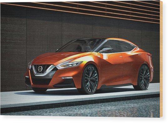 Nissan Sport Sedan Concept 2014 Wide Wood Print
