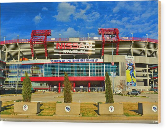 Nissan Stadium Home Of The Tennessee Titans Wood Print