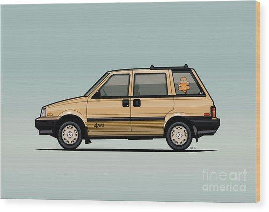 Nissan Stanza / Prairie 4wd Wagon Gold Wood Print