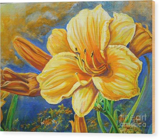 Nixon's Lily Of The Sunshine Wood Print