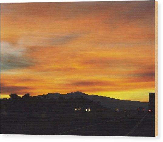 Nm Sunrise Wood Print