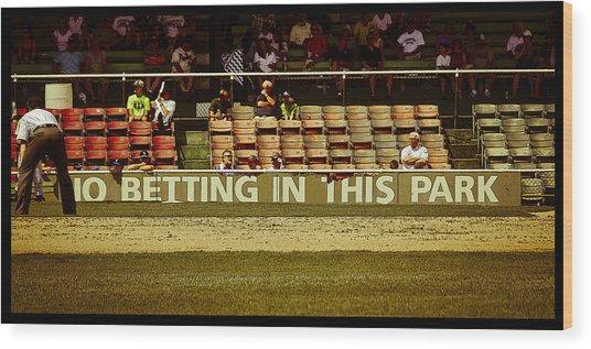 No Betting Poster Wood Print