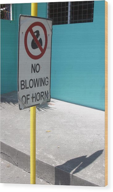 No Blowing Of Horn 2 Wood Print by Jez C Self