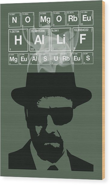 No More Half Measures - Breaking Bad Poster Walter White Quote Wood Print
