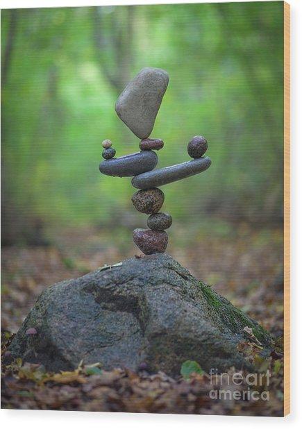Zen Stack #5 Wood Print