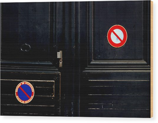 No No Wood Print by Jez C Self