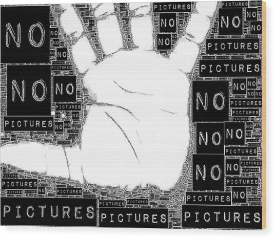 No Pictures Wood Print