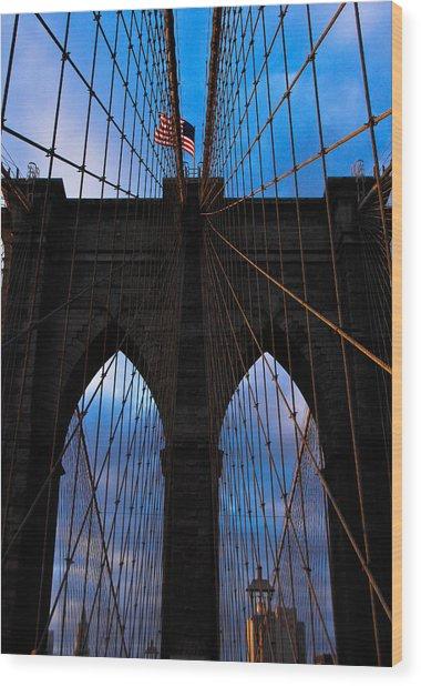 No Sleep Til Brooklyn Wood Print by John McGarity