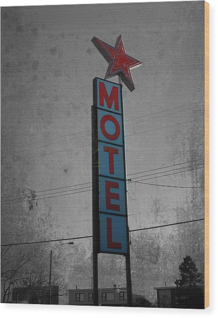 No Tell Motel Wood Print
