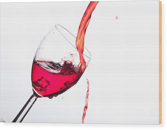 No Wine Was Harmed During The Making Of This Image Wood Print