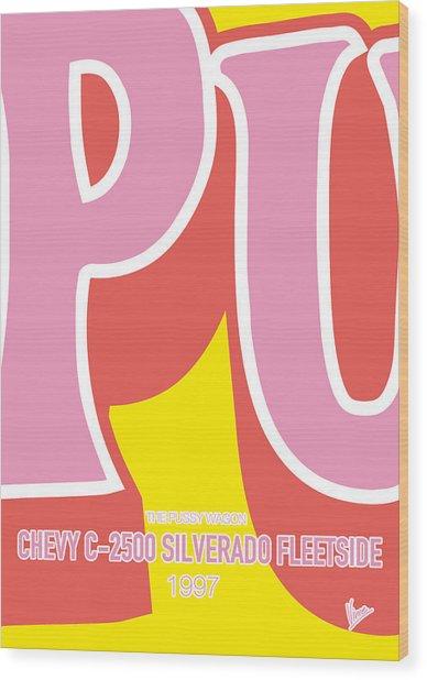 No013 My Kill Bill Minimal Movie Car Poster Wood Print