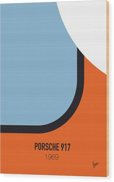 No016 My Le Mans Minimal Movie Car Poster Wood Print