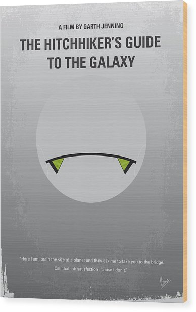 No035 My Hitchhiker Guide Minimal Movie Poster Wood Print