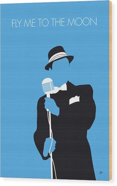 No059 My Sinatra Minimal Music Poster Wood Print