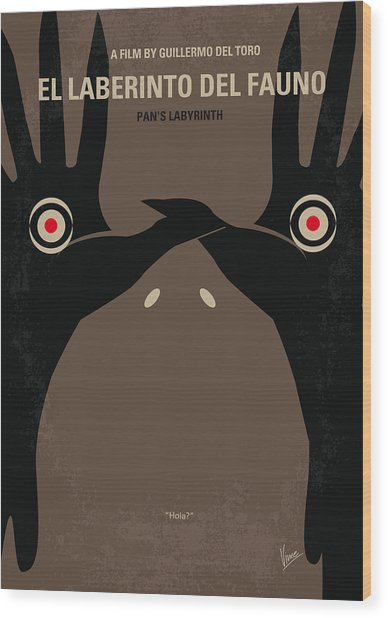 No061 My Pans Labyrinth Minimal Movie Poster Wood Print