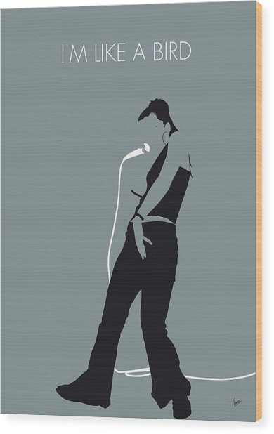No077 My Nelly Furtado Minimal Music Poster Wood Print