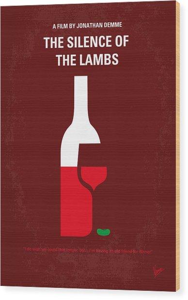 No078 My Silence Of The Lamb Minimal Movie Poster Wood Print