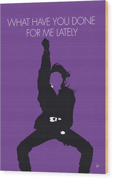 No091 My Janet Jackson Minimal Music Poster Wood Print