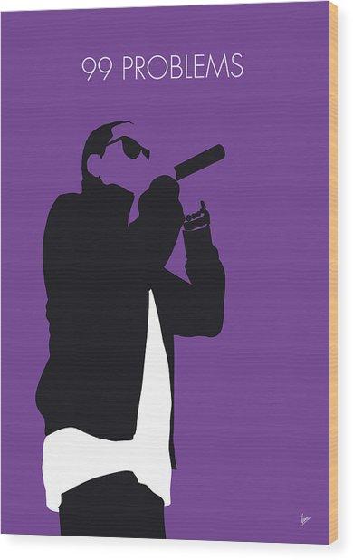 No101 My Jay-z Minimal Music Poster Wood Print