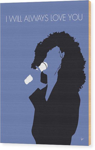 No108 My Whitney Houston Minimal Music Poster Wood Print