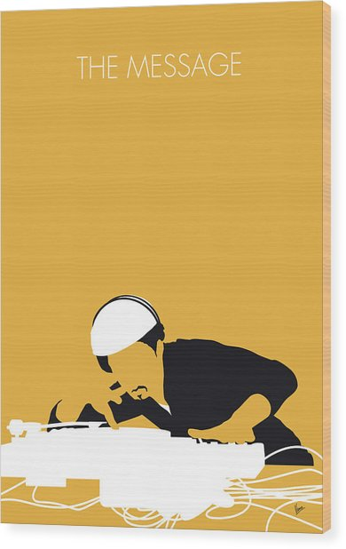 No114 My Grandmaster Flash Minimal Music Poster Wood Print