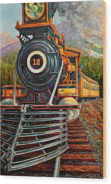 No.12 In The Mountains Wood Print by Gary Symington