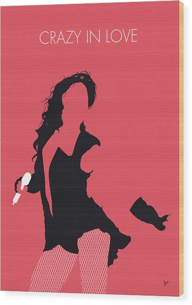 No122 My Beyonce Minimal Music Poster Wood Print